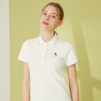T-shirt S,M,L,XL,2XL Summer 2020 Short sleeve Polo collar easy Regular routine commute cotton 96% and above 25-29 years old Korean version classic Animal design