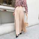 Casual pants Naked powder S,M,L Summer 2020 trousers Wide leg pants High waist Versatile routine 25-29 years old 51% (inclusive) - 70% (inclusive) Satin other