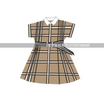 Dress Plaid belt skirt female Hibiscus hepatica 90cm,100cm,110cm,120cm,130cm,140cm,150cm,S,M,L Other 100% other other 2, 3, 4, 5, 6, 7, 8, 9, 10, 11, 12, 13, 14 years old