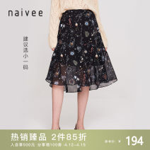 skirt Summer 2021 155/62A/S 160/66A/M 165/70A/L 170/74A/XL black Middle-skirt commute Natural waist Umbrella skirt Decor Type A 25-29 years old 198A72320-81 More than 95% Naivie Viscose printing Ol style Viscose (viscose) 100% Same model in shopping mall (sold online and offline)