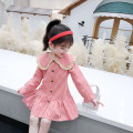 Dress Black check, red check female Other / other 90cm,100cm,110cm,120cm,130cm Cotton 90% other 10% spring and autumn leisure time Long sleeves lattice cotton Cake skirt Class B 12 months, 9 months, 18 months, 2 years old, 3 years old, 4 years old, 5 years old, 6 years old, 7 years old, 8 years old