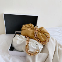 Bag The single shoulder bag PU Fold package Tianbai Zhishang brand new Japan and South Korea Small leisure time hard other no Solid color Single root One shoulder cross nothing youth other chain Chain handle synthetic leather PU leather Three dimensional bag
