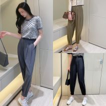 Casual pants Black, khaki, grey S [suitable for 80-95 kg], m [suitable for 95-110 kg], l [suitable for 110-125 kg], XL [suitable for 125-135 kg] thickening