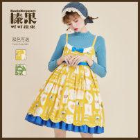 Lolita / soft girl / dress Baciobouquet / Corylus cocoa bouquet Matcha green, egg yolk M, S