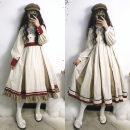 Dress Autumn of 2019 Long sleeve OP full, sleeveless jsk full, shirt full S,M,L Mid length dress singleton  Sweet High waist zipper Big swing Type A Lolita