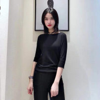 Wool knitwear Spring 2021 2 / s, 3 / m, 4 / L, 5 / XL black elbow sleeve singleton  Socket modal  51% (inclusive) - 70% (inclusive) Regular routine commute easy Low crew neck routine Solid color Socket Simplicity Pinge Dixin