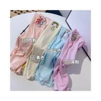 T-shirt summer leisure time There are models in the real shot nothing Modal fiber (modal) 100% Class A Song song baby Five, six, seven, eight, nine, ten, eleven, twelve modal  female Cartoon animation Chinese Mainland Yellow, blue, pink 130cm,140cm,150cm,160cm