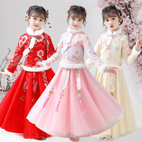 Tang costume 110,120,130,140,150,160 Polyester 100% female winter There are models in the real shooting thickening Other / other other Class B Broken flowers Intradermal bile duct 2, 3, 4, 5, 6, 7, 8, 9, 10, 11, 12, 13, 14 years old Chinese Mainland