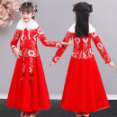 Tang costume 110,120,130,140,150,160 Polyester 100% female spring and autumn There are models in the real shooting routine Dinielephant / dinielephant Cotton blended fabric Class B Broken flowers A101 Cotton liner 2, 3, 4, 5, 6, 7, 8, 9, 10, 11, 12, 13, 14 years old Chinese Mainland