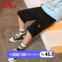 trousers Grass man in cloth male 120cm 130cm 140cm 150cm 160cm 170cm black summer Pant leisure time There are models in the real shooting Casual pants Leather belt middle-waisted Don't open the crotch Cotton 95% polyurethane elastic fiber (spandex) 5% Summer 2021 Chinese Mainland Zhejiang Province