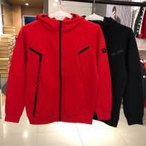 Sports jacket / jacket Guirenniao male XS (adult), s (adult), m (adult), l (adult), XL (adult), XXL (adult), XXL (adult) Spring of 2019 Hood zipper