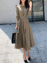 Dress Autumn of 2019 brown S,M,L,XL