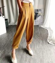Jeans Summer of 2019 Khaki, Navy, white, khaki S,M,L Ninth pants High waist