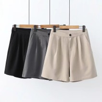 Casual pants Black, khaki, grey S,M,L Summer of 2019 Wide leg pants High waist routine wimigirls