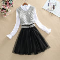 Women's large Spring 2020 Dress Two piece set Sweet Self cultivation moderate Socket Long sleeves Polo collar Medium length cotton Three dimensional cutting shirt sleeve fashion dress  Yi Meiyuan 25-29 years old Three dimensional decoration 51% (inclusive) - 70% (inclusive) Medium length bow