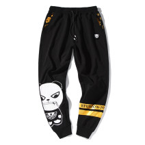 sweatpants  S,M,L,XL,2XL,3XL,4XL,5XL youth trousers l am l i cka 1925 thin Other leisure Youth fashion easy thin autumn Youthful vigor middle-waisted Little feet 2018 Cartoon animation Micro bomb printing Cotton 95% polyester 5% No iron treatment cotton More than 95% Terry cloth Original designer