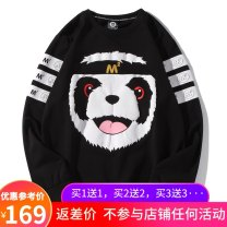 Sweater Youth fashion l am l i cka black Animal design Socket routine Crew neck autumn easy leisure time youth tide routine Cotton 95% polyester 5% cotton printing No iron treatment More than 95%