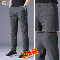 Casual pants Tucano / woodpecker Youth fashion thin trousers Other leisure Self cultivation get shot summer youth tide 2021 middle-waisted Little feet Cotton 98% polyurethane elastic fiber (spandex) 2% Sports pants Pocket decoration washing Solid color cotton cotton International brands More than 95%