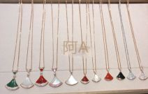 Necklace other 1001-3000 yuan ELLCCH White fan, red fan, white skirt, red skirt, red row diamond, platinum full diamond, rose gold full diamond, Tanabata style, green skirt other yes Below 10 cm Gold / K gold inlaid gems other other Water wave chain