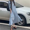 Dress Summer 2020 Blue lattice Average size singleton  other other other other other other other