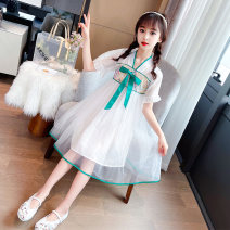 Tang costume Green, pink Reference height of 110 yards is 100-110cm, reference height of 120 yards is 110-120cm, reference height of 130 yards is 120-130cm, reference height of 140 yards is 130-140cm, reference height of 150 yards is 140-150cm, reference height of 160 yards is 150-160cm female summer