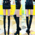 skirt Winter 2020 Black [regular], black [Plush] Short skirt commute Natural waist skirt Solid color 81% (inclusive) - 90% (inclusive) Other / other PU Pocket, zipper