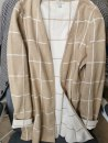 Women's large Spring 2021 Camel M. Large L Knitwear / cardigan singleton  Cardigan Long sleeves lattice
