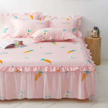 Bed skirt 1.2x2.0cm bedspread + 2 pillow cases, 1.5x2.0cm bedspread + 2 pillow cases, 1.8x2.0cm bedspread + 2 pillow cases cotton Other / other Plants and flowers Superior products Korean lace bedspread three piece set