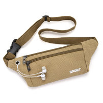 Men's bag Pocket canvas Duomeilun Army green Khaki Black Brown brand new leisure time leisure time zipper soft in yes inside pocket with a zipper Solid color Yes Single root youth other polyester fiber Clip Telescopic handle