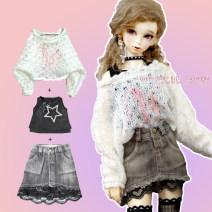 BJD doll zone suit 1/3 Over 14 years old goods in stock Recommended suits (sweater + star Vest + skirt), set suit with neck chain, shining diamond star vest top, bat sleeve sweater