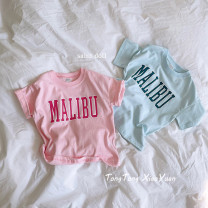 T-shirt Other / other neutral Short sleeve other letter Six months, 12 months, 18 months, 2 years old, 3 years old, 4 years old, 5 years old, 6 years old, 7 years old, 8 years old