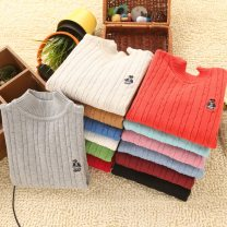 Sweater / sweater Size 110 can wear 100-110cm, Size 120 can wear 110-120cm, Size 130 can wear 120-130cm, size 140 can wear 130-140cm, size 150 can wear 140-150cm, size 160 can wear 150-160cm, size 170 can wear 160-170cm cotton neutral Other / other Korean version No model Socket Thin money nothing