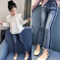 trousers ConnyStyle female 105cm,110cm,120cm,130cm,140cm,150cm,160cm,165cm Denim spring and autumn trousers Korean version There are models in the real shooting Jeans Leather belt middle-waisted Denim Don't open the crotch Cotton 94.1% polyester 4.1% polyurethane elastic fiber (spandex) 1.8% FX143