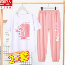 suit NGGGN 110cm 120cm 130cm 140cm 150cm 160cm 165cm female summer leisure time Short sleeve + pants Thin money There are models in the real shooting Socket nothing other cotton children Giving presents at school Class B Cotton 100% Spring 2021 Chinese Mainland Hubei province Wuhan City
