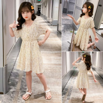 Dress summer leisure time Chiffon other other Class B Zhejiang Province Huzhou City female Other / other Four, five, six, seven, eight, nine, ten, eleven, twelve Other 100% Short sleeve Chinese Mainland Red, yellow 110cm,120cm,130cm,140cm,150cm,160cm