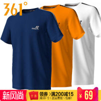 Sports T-shirt 361° S/165,M/170,L/175,XL/180,2XL/185,3XL/190,4XL/195 Short sleeve male Crew neck Base black, super orange, canyon blue, Ben White, vibrant green routine Moisture absorption and perspiration, anti ultraviolet, quick drying, breathable, super elastic, elastic, antistatic Summer 2020 run
