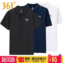 Sports T-shirt 361° S/165,M/170,L/175,XL/180,2XL/185,3XL/190,4XL/195 Short sleeve male Lapel routine Summer 2020 letter Comprehensive training Comprehensive training series polyester fiber