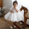 Children's dress white female 80cm,90cm,100cm,110cm,120cm,130cm,140cm AMY RUOQI full dress Class B other Polyester 70% Cotton 30% princess