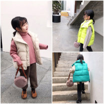 Vest neutral Off white, fluorescent yellow, lake green 5(90),7(100),9(110),11(120),13(130),15(140) Send sauce winter thickening There are models in the real shooting zipper Korean version cotton Solid color Other 100% Class B other Cotton liner Chinese Mainland
