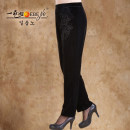 Middle aged and old women's wear Spring 2015 3800 black fashion trousers easy Solid color 40-49 years old thick A slave pocket polyester Polyester fiber 91.4% polyurethane elastic fiber (spandex) 8.6% 91% (inclusive) - 95% (inclusive) Pure e-commerce (online only) 7 / 9 pants