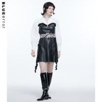 Dress Autumn 2020 Black against white, black against white (pre sale) S, M Middle-skirt Fake two pieces Long sleeves tailored collar High waist Socket A-line skirt puff sleeve Others 18-24 years old Type A BLUEerror Stitching, lace 2D0909L01XQ 51% (inclusive) - 70% (inclusive) polyester fiber