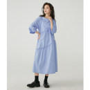 Dress Spring 2021 S, M longuette singleton  three quarter sleeve High waist Solid color Socket A-line skirt routine Others 18-24 years old Type A BLUEerror More than 95% cotton