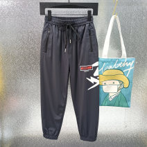 trousers Other / other male XL (139-145), 2XL (146-154), 3XL (155-160), 4XL (161-165), 5XL (166-170) Gray, black summer trousers leisure time Casual pants Leather belt middle-waisted cotton Don't open the crotch Class B 7, 8, 14, 13, 11, 10, 9, 12 Chinese Mainland