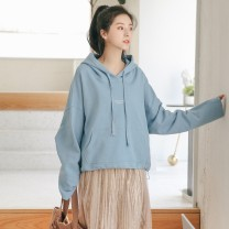 Sweater / sweater Autumn of 2019 Sky blue and grey Average size Long sleeves routine Socket singleton  routine Hood easy commute routine letter 18-24 years old 51% (inclusive) - 70% (inclusive) Silvermoon / Selmo Korean version cotton cotton Cotton 66.3% polyester 33.7% Pure e-commerce (online only)