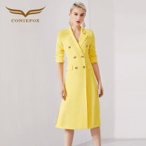 Dress Spring of 2019 S M L XL XXL Mid length dress singleton  elbow sleeve middle-waisted other routine 25-29 years old Type H Creative Fox More than 95% polyester fiber Polyethylene terephthalate (polyester) 100% Pure e-commerce (online only)