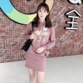 Dress Autumn of 2018 Black, green, beige, pink, navy Average size BOY KOREA