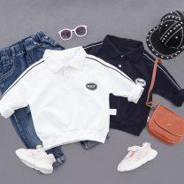 Sweater / sweater Other / other Navy, pure white, black one-piece pants male The recommended height is 90cm for 90, 100cm for 100, 110cm for 110, 120cm for 120, 130cm for 130, 140cm for 140 and 150cm for 150 spring and autumn nothing Korean version Socket routine No model cotton Solid color Class B