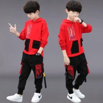 Leisure sports suit spring The recommended height is 115cm for Size 120, 125cm for Size 130, 135cm for size 140, 145cm for size 150, 155cm for size 160 and 160cm-165cm for size 170 Long sleeves Other / other trousers teenagers Sweater cotton 2020