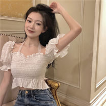 Lace / Chiffon Summer 2021 white Average size have cash less than that is registered in the accounts 18-24 years old Other / other