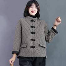 Cotton padded clothes lattice M,L,XL,2XL,3XL Winter 2020 Other / other have cash less than that is registered in the accounts Long sleeves routine Single breasted commute stand collar routine lattice literature Pocket, print, buckle 51% (inclusive) - 70% (inclusive)